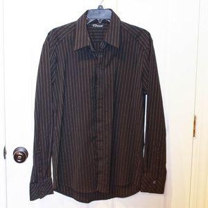 Men's 7 Diamonds Button Up Long Sleeve Shirt Large